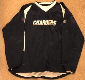 Reebok Los Angeles Chargers Lightweight Pullover Jacket Windbreaker Mens Sz. XL