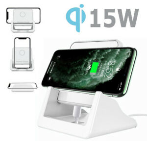 Qi Wireless Fast Charger Charging Stand Pad Dock for iPhone Samsung LG Android