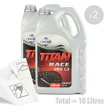 Car Engine Oil Service Kit / Pack 10 LITRES Fuchs Titan Race Pro C3 5W-30 10L