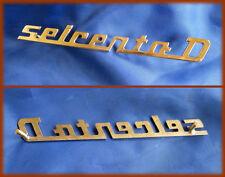 FIAT 600 D - Script logo emblem badge embellishment dashboard