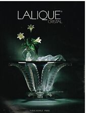 Publicité Advertising 1988 Le Cristal Lalique Console cactus