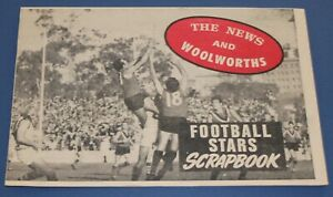 1971 The News & Woolworths Football Star Cut Out Scrap Book Unused - Excellent