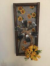 Farmhouse Sunflower Windmill Picture Decor