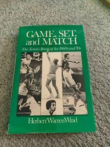 1979 Game Set and Match Tennis Book Herbert Warren Wind with Dust Jacket