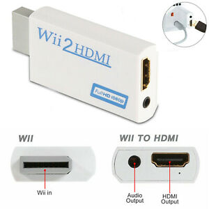 Wii Input to HDMI 1080P HD Audio Output Converter Adapter 3.5mm Jack