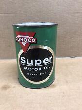 Vintage Conoco Outboard Motor Oil White Ceramic Mug