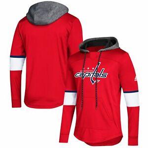 Men adidas Capitals Platinum Jersey Hoodie(Red)-Choose Size