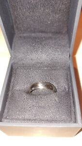 Solid 14K White Gold Wedding Band Ring Mens Size 7