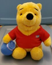 """1994 13"""" Winnie The Pooh Plush Doll With Hunny Pot Vintage"""
