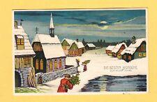 31.12.1913 gel. - Neujahrsgruß Prägekarte  ( Weihnachtsbaum Entsorgung )