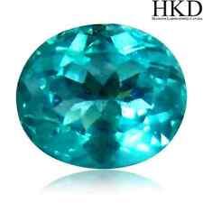 3.48 cts HKD-certified Natural Oval-cut Greenish-Blue VVS Apatite (Madagascar)