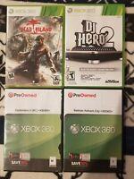 Xbox 360 Game Lot: Batman Arkham City, Darksiders 2, Dead Island, and DJ Hero 2