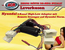 2-KANAL HIGH-LOW ADAPTER MIT REMOTE FÜR HYUNDAI VERSTÄRKER ADAPTER PLUG & PLAY