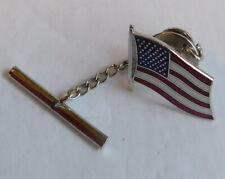Vintage Men's American Patriotic Flag Tie Tac