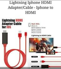 Lightning to HDMI ADAPTER Cable for iOS For IPHONE to TV (2M).