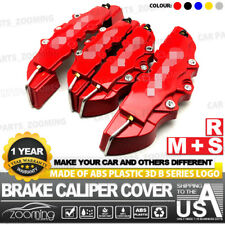 4 Pcs Red 3D Style Brake Caliper Covers Universal Car Disc Front Rear Kits WL02