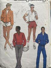 Vintage Exercise/ Lounge Wear Jacket Pants Sewing Pattern Mens L Simplicity 7673