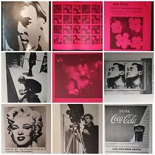 Vintage 1966 Andy Warhol Institute Contemporain Art Boston Coke Brillo Marilyn