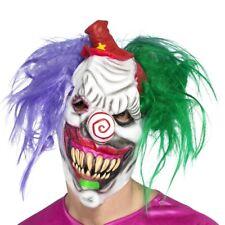 Vestito per Halloween Horror Colorato Assassino Maschera da Clown Testa Intera