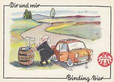 Binding Bier Reklame-AK Auto Bierfass Humor Brauerei Frankfurt Hessen 1811053