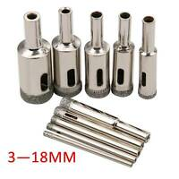 3-18mm Diamond Coated Core Hole Saw Drill Bit Cutter Set Tools for Glass Marble