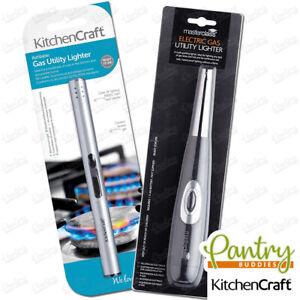 Kitchen Craft MasterClass Gas Hob Cooker Lighter - Refillable Gas / Battery