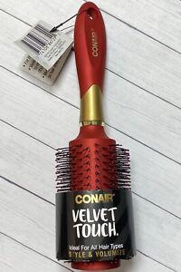 Conair Velvet Touch Hair Brush Style & Volumize Ideal for All Hair Types