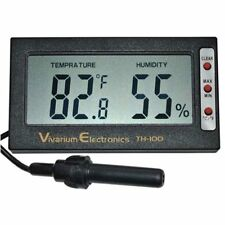 Th-100 Thermometer Hygrometer for Reptile Terrarium, Amphibian & Aquarium New