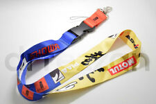Spoon Sports Motul Showa Yellow Blue Lanyard Phone Holder Neck Strap Key Chain