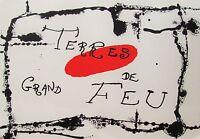 MIRO - TERRES DE FEU - ORIGINAL LITHOGRAPH - 1956 -FREE SHIP IN THE US !!!