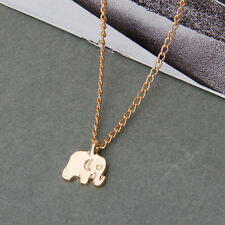 Good Luck Elephant Pendant Alloy Clavicle Necklace With Card Women Jewelry