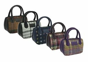 Mala Leather ABERTWEED Collection Leather And Tweed Grab Bag 7101_40