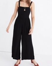 c31f572e9b0 NEW  138 Madewell smocked crop jumpsuit Sz14 In Black H1084 SOLDOUT!