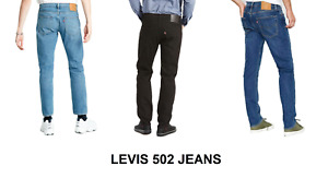 Genuine LEVIS Mens 502 Regular Taper Fit Blue Jeans - Various colours and sizes