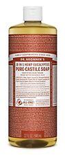 Dr. Bronners Castile Liquid Soaps Pure Soap 18 in 1 Hemp Eucalyptus 32 Ounce