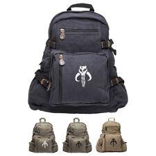 Star Wars Mandalorian Skull Boba Fett Sport Heavyweight Canvas Backpack Bag