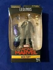 NEW HASBRO MARVEL LEGENDS SERIES 6 Inch CAPTAIN MARVEL NICK FURY BAF!!