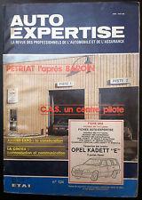 "AUTO EXPERTISE n°124; Fiche S.R.A/ OPEL KADETT ""E""/ 205"