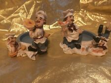 Whimsical pair of French Chef wine bottle holders