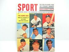 May 1962 Sport Magazine Mantle, Maris, Mays, Mathews and Colavito Ex. cond.