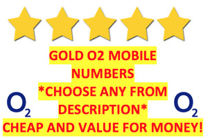 GOLD VIP O2 02 Sim Card PAYG Fancy EASY Good Numbers [Choose From Description]