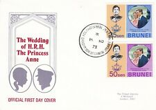 (48284) Brunei FDC Princess Anne Wedding 1973