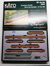 N Scale KATO 106-060 Southern Pacific Daylight (10) Car Passenger Train Set RARE