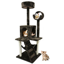 52'' Cat Tree Scratching Tower Post Condo Pet House Scratcher Furniture Bed New