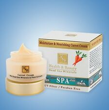 Moisturizer & Nourishing Carrot Facial Cream Health&Beauty Dead Sea Minerals 50m