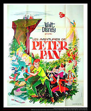 PETER PAN Walt Disney 4x6 ft Vintage French Grande Movie Poster 1965