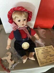 Little Cowboy Porcelain Doll By Duck House Limited Edition 991/5000