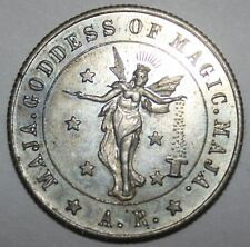 1925 Magic Coin ~ Maja ~ Goddess of Magic ~ 31mm A.R. August Roterberg ~ Chicago