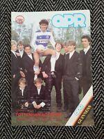 QPR v Tottenham Spurs 1985 Programme 12/1/85! FREE UK POSTAGE! LAST ONE!!!