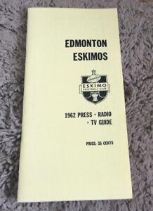 1962 Edmonton Eskimos CFL Media Guide Reprint